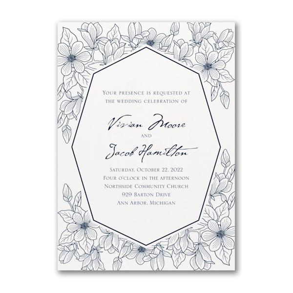 Lush Floral Wedding Invitation Icon