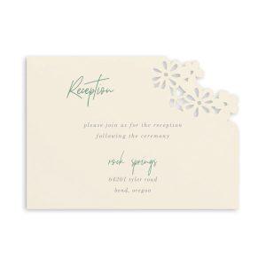 Luxurious Blooms in Ecru Reception Card