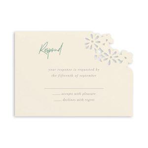 Luxurious Blooms in Ecru Response Card