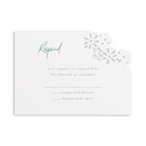 Luxurious Blooms in White Response Card