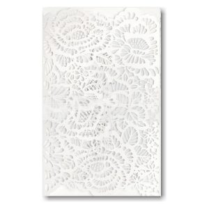 Luxurious Blooms in White Wedding Invitation Icon