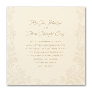 Luxurious Flourish Wedding Invitation Icon