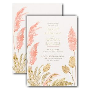 Luxurious Grasses Wedding Invitation Icon