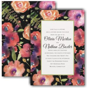 Magical Blooms Wedding Invitation Icon