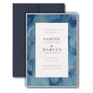 Magical Watercolors Layered Pocket Wedding Invitation Icon