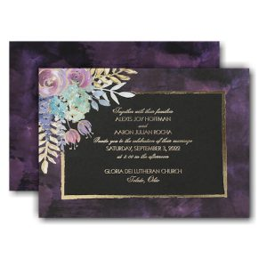 Midnight Floral Wedding Invitation Icon