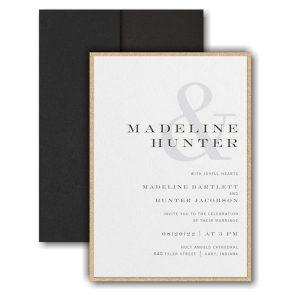 Modern Ampersand Layered Pocket Wedding Invitation Icon