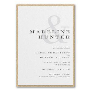 Modern Ampersand Layered Wedding Invitation Icon