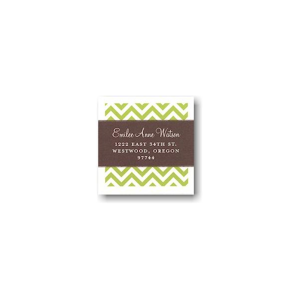 Modern Block Coffee and Lime Return Address Sticker
