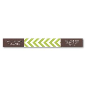 Modern Block Coffee and Lime Skinny Address Label