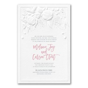 Modern Blooms in White Wedding Invitation Icon