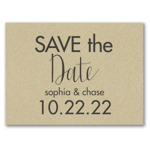 Modern Date Save the Date Card Icon