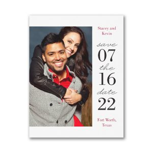 Modern Day Save the Date Magnet Icon