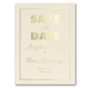 Modern Frame Save the Date Card Icon