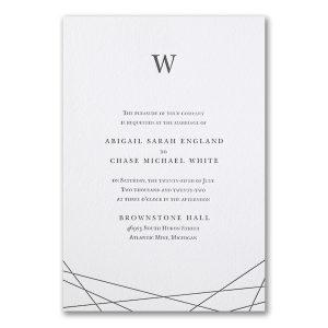 Modern Marvel Letterpress Wedding Invitation Icon