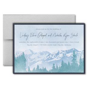 Mountain Beauty Layered Pocket Wedding Invitation Icon