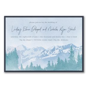 Mountain Beauty Layered Wedding Invitation Icon