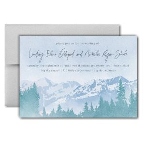 Mountain Beauty Pocket Wedding Invitation Icon