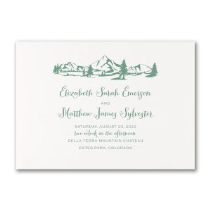 Mountains & Evergreens Wedding Invitation Icon