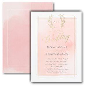 Natural Watercolor Wedding Invitation Icon