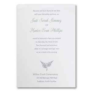 Naturally Pretty Wedding Invitation Icon