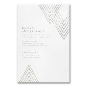 Organic Diamond in White Wedding Invitation Icon