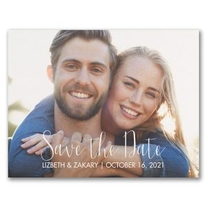 Our Wedding Date Photo Save the Date Postcard Icon