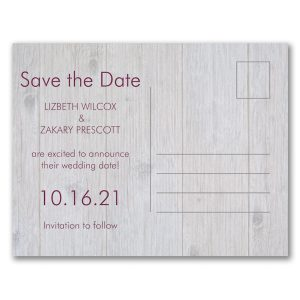 Our Wedding Date Photo Save the Date Postcard alt