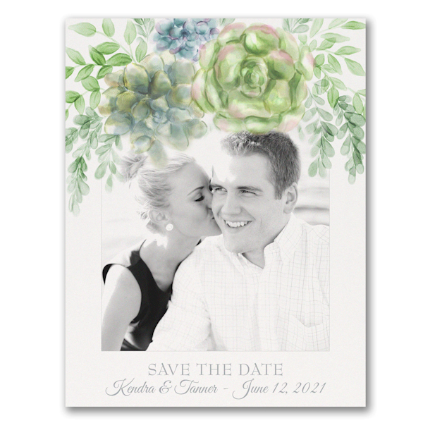 Painted Love Photo Save the Date Postcard