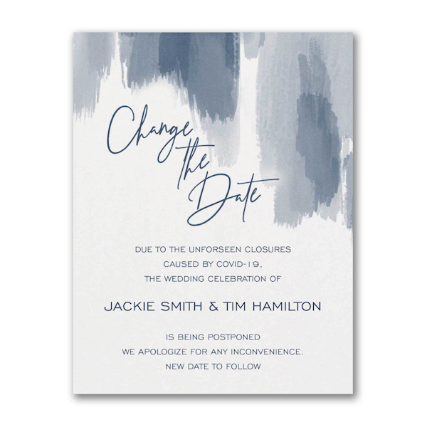 Painted Passion Change the Date Card