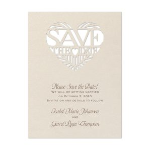 Paper Pattern Save the Date Card Icon