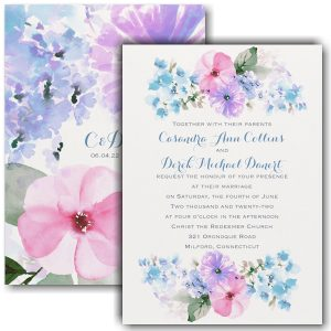 Pastel Floral Wedding Invitation Icon