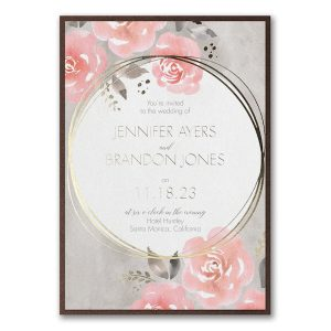 Pastel Roses Layered Wedding Invitation Icon