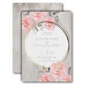 Pastel Roses Wedding Invitation Icon