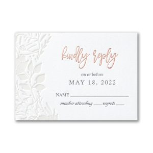 Pearl Blooms in Fluorescent White Response Card