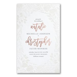 Pearl Blooms in Fluorescent White Wedding Invitation
