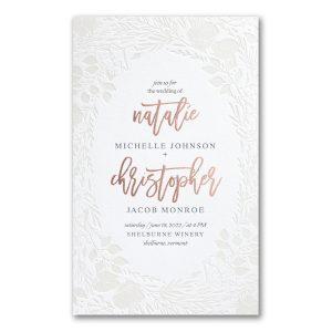 Pearl Blooms in Fluorescent White Wedding Invitation Icon
