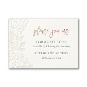 Pearl Blooms in Pearl White Reception Card