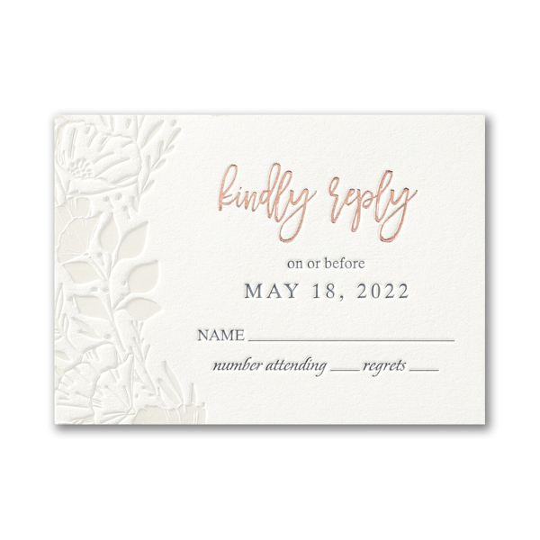 Pearl Blooms in Pearl White Response Card