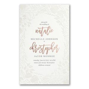 Pearl Blooms in Pearl White Wedding Invitation