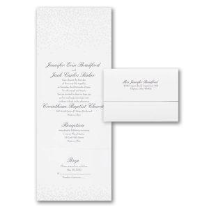 Pearl Confetti Seal 'n Send Wedding Invitation Icon