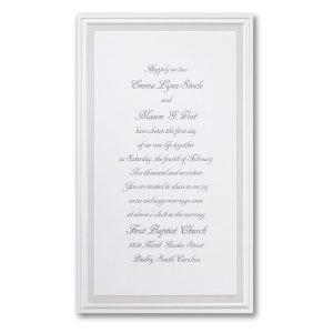 Pearl Poetry in White Wedding Invitation Icon