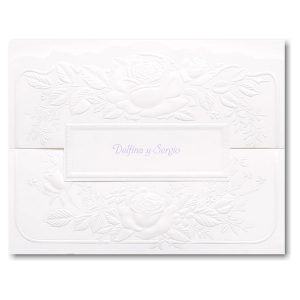 Pearl Roses Wedding Invitation Icon