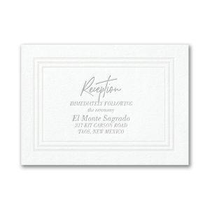 Pearlized Borders in Fluorescent White Reception Card