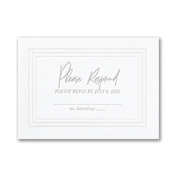 Pearlized Borders in Fluorescent White Response Card