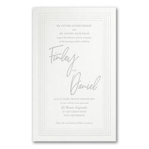 Pearlized Borders in Fluorescent White Wedding Invitation Icon