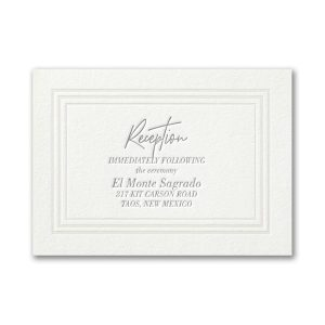 Pearlized Borders in Pearl White Reception Card