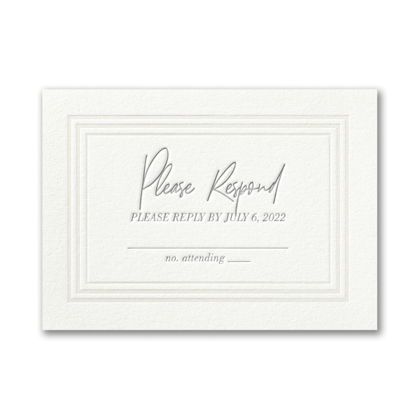 Pearlized Borders in Pearl White Response Card