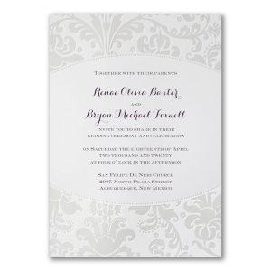 Pearlized Filigree Border Wedding Invitation Icon