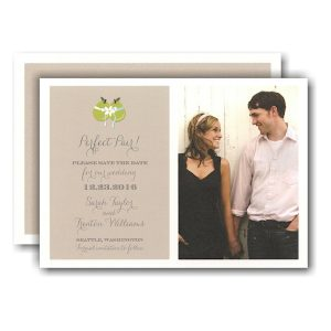 Perfect Pair Photo Save the Date Card